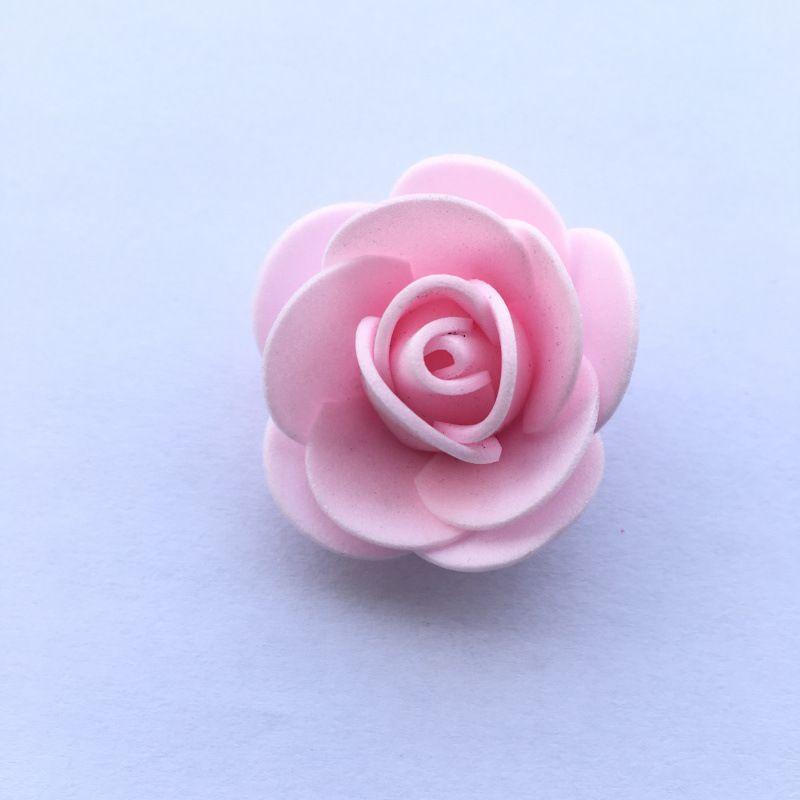 3.5cm泡沫花pe泡沫玫瑰花头 婚庆喜糖盒装饰配件仿真泡沫花假花47