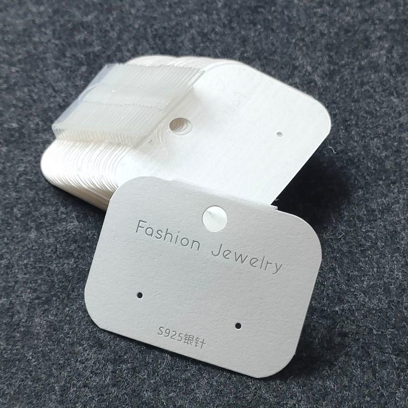 韩版耳环挂钩卡片耳钉底板塑料纸卡包装饰品配件耳夹卡纸现货背板