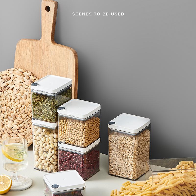 B35-225抽空密封罐可叠厨房收纳保鲜储物罐坚果茶叶杂粮收纳盒