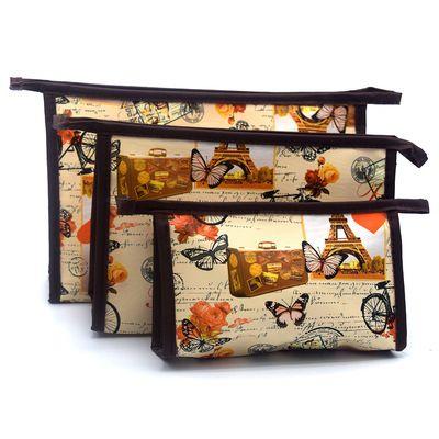 欧美风化妆包大容量洗漱包子母套装化妆袋一件三个精美时尚14