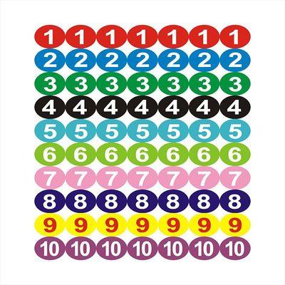 彩色数字贴纸