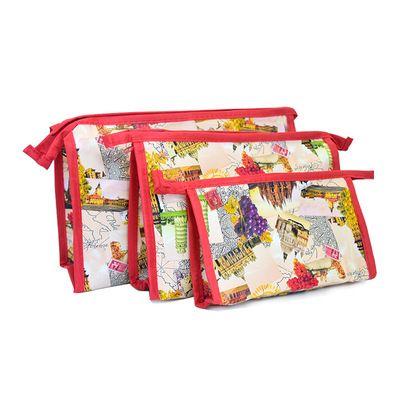 欧美风化妆包大容量洗漱包子母套装化妆袋一件三个精美时尚15