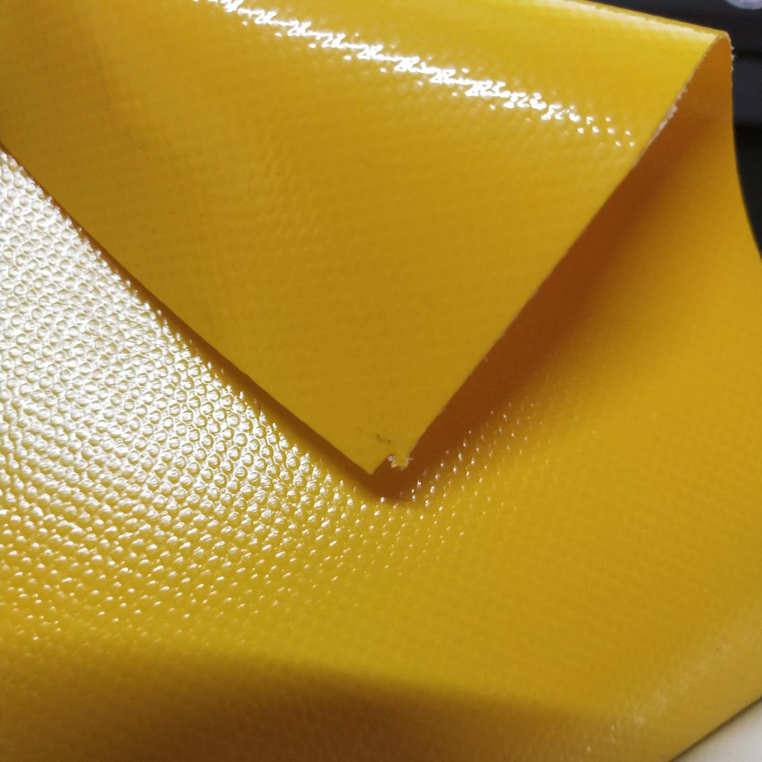 优质光面黄色PVC夹网布  箱包布  各种体操垫  各种箱包袋专用面料