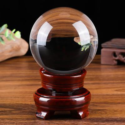 150#水晶光球木底座