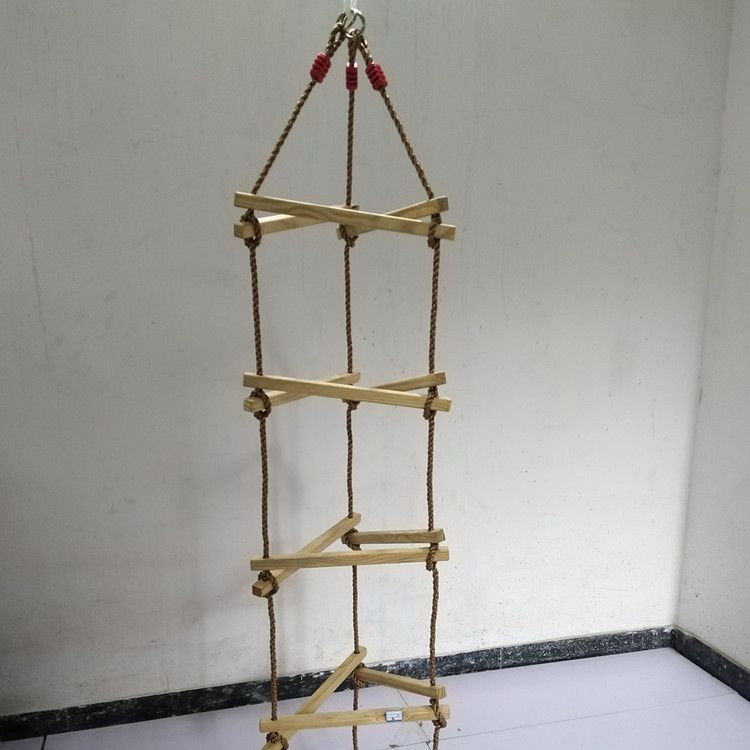 亚马逊户外秋千室内运动 单头多头儿童爬梯 五档六档定制软梯