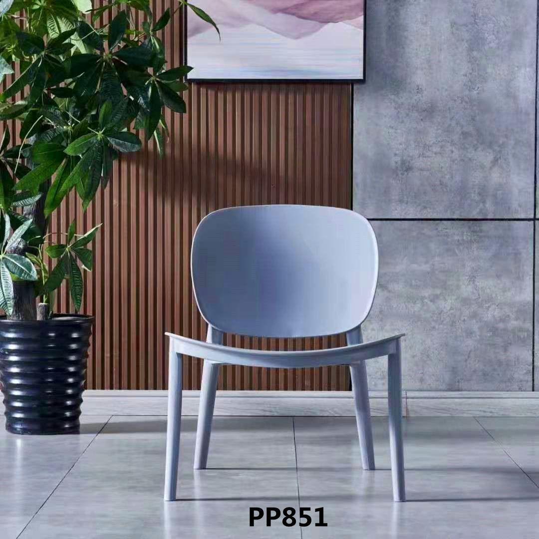 吕字家具-家用电脑舒适餐椅PP材质现代卧室办公书桌椅靠背休闲椅