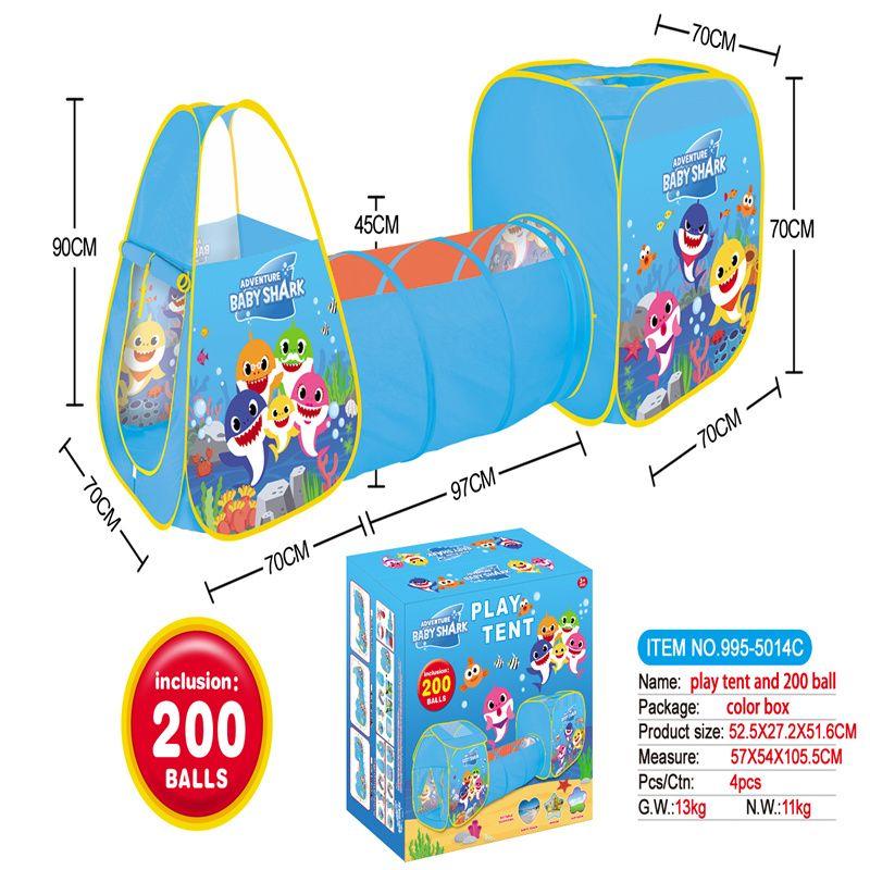 3合1鲨鱼宝宝儿童帐篷带200个6CM海洋球995-5014C