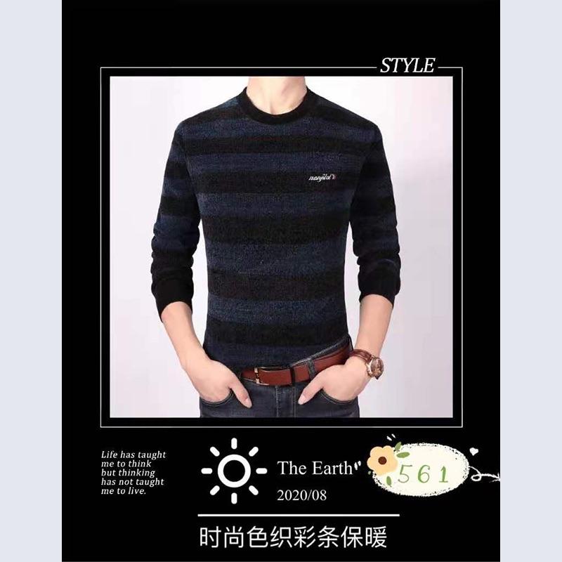 青少年男士保暖羊绒针织衫4