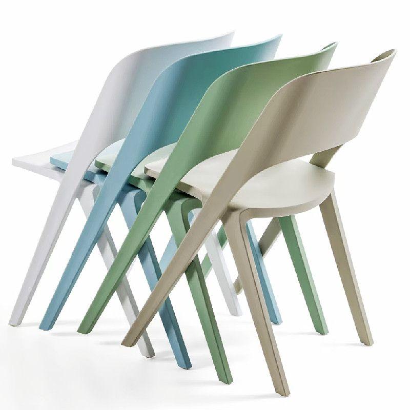 吕字家具-北欧塑料椅餐桌椅酒店宴会休闲椅子靠背椅PP材料创意洽谈椅子