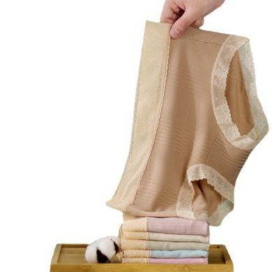 莫代尔中腰内裤女蕾丝性感迷人女士成人女生小内透明三角裤