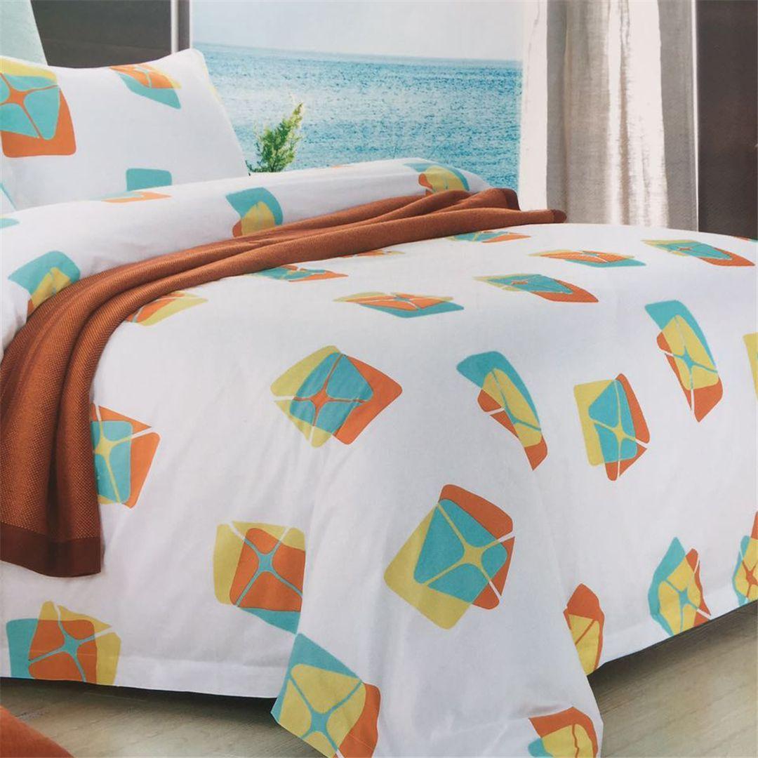 酒店宾馆民宿客房布草纯棉印花喷气 床上用品 布草 四件套 酒店被套