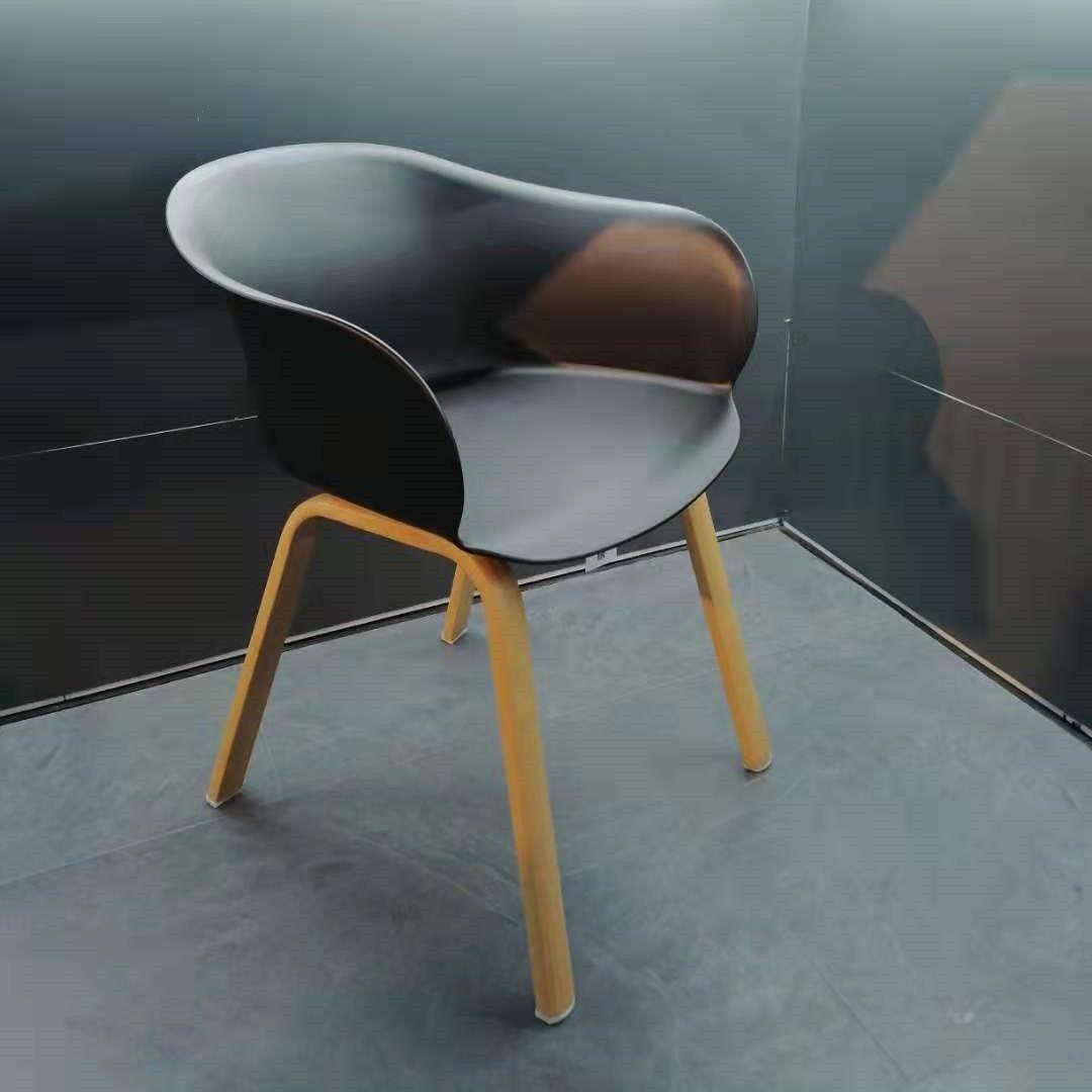 吕字家具-PP餐椅户外椅子现代简约休闲餐厅靠背椅化妆椅餐桌书桌椅子