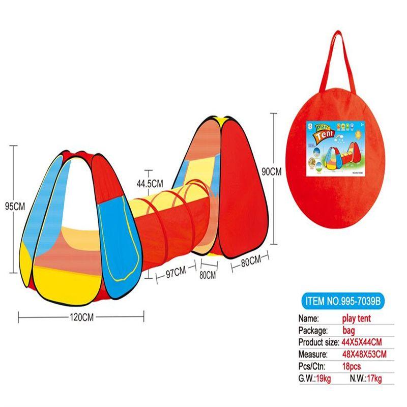 儿童帐篷三合一儿童帐篷合体隧道爬筒995-7039B