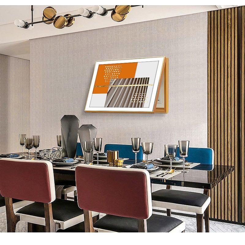 几何拼接表箱装饰画北欧简约风格现代遮挡客厅总开关电源配电箱画