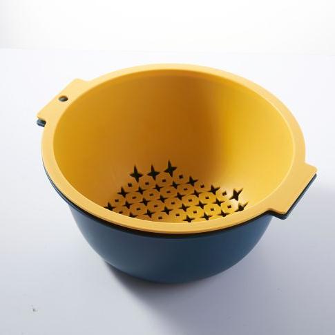 圆形漏口悬挂水果篮沥水篮塑料洗菜果篮厨房置物筐实用沥水篮