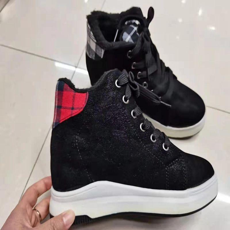 43238休斯鞋业 外贸批发 冬季保暖时尚百搭雪地靴简约一脚蹬短靴女靴雪地靴XS06
