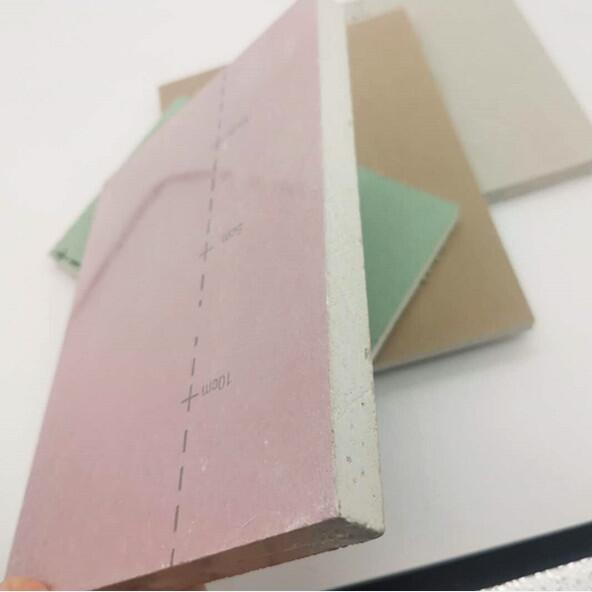 12mm*1200*2400纸面石膏板家装吊顶隔墙隔断客厅卧室办公室商场可切割可喷漆可上色防火石膏板红色粉色石膏板