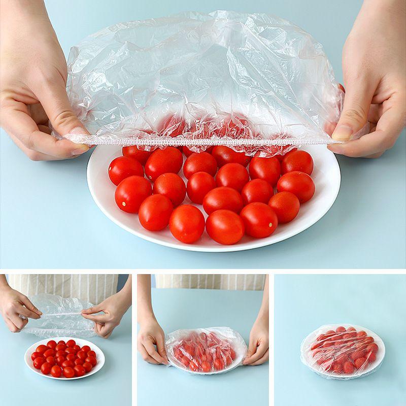 一次性保鲜套冰箱食品防串味保鲜膜套松紧碗盖PE保鲜套餐具防尘罩