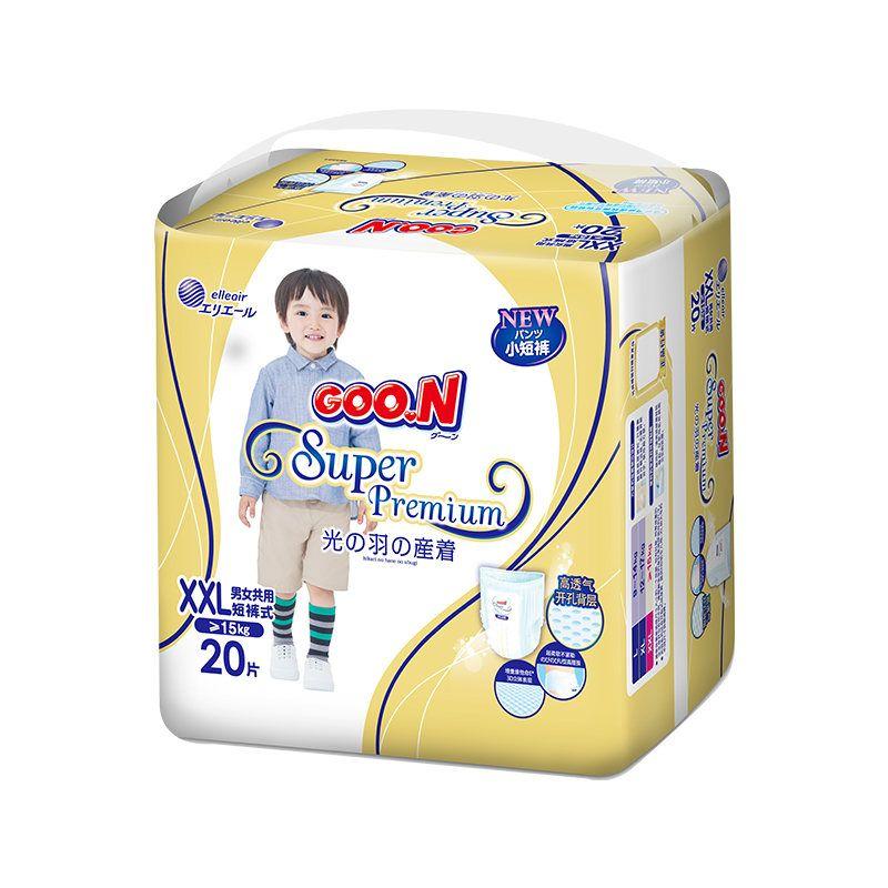 大王短裤式纸尿裤光羽系列XXL20