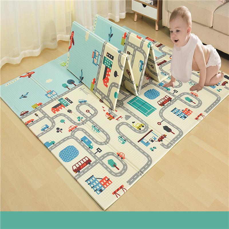 婴儿防摔厂家直销XPE折叠垫0.8CM 150*200cm