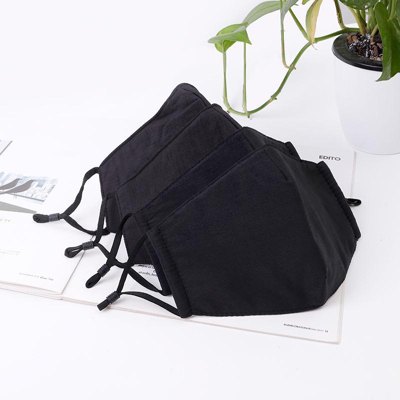 秋冬季口罩户外棉质立体黑色防尘保暖透气口罩可请洗时尚防寒口罩