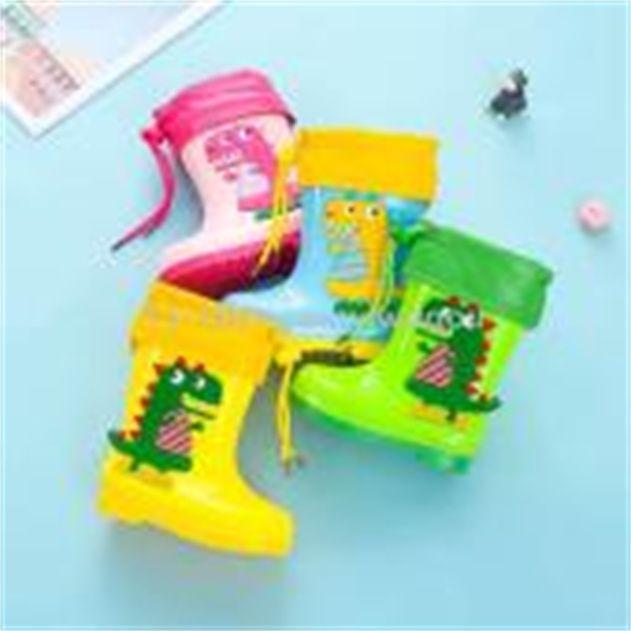 时尚卡通儿童雨鞋女童男童长筒水鞋防滑耐磨工雨靴厂家代发9
