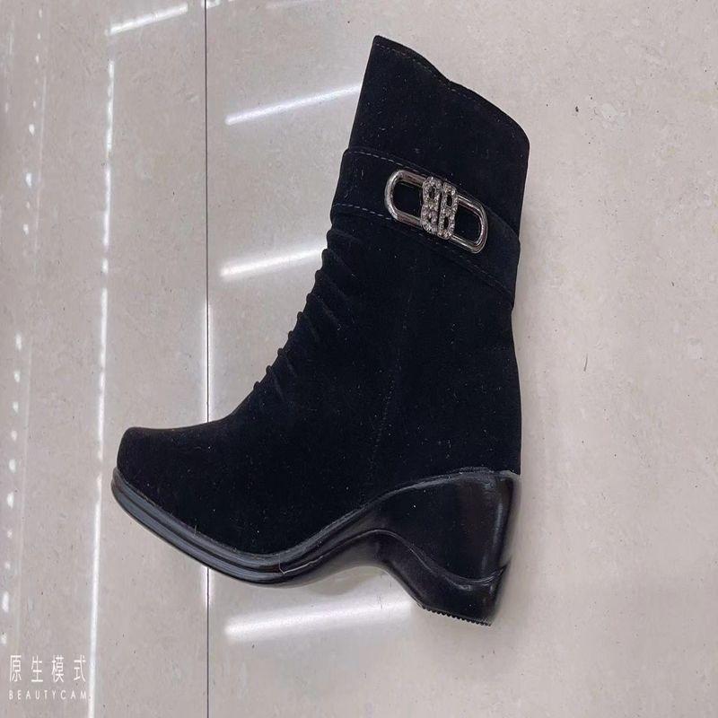 【石发鞋业】外贸批发 外贸批发 女士时尚百搭浅口皮鞋低跟高跟鞋时尚百搭时装鞋女皮鞋SF0708