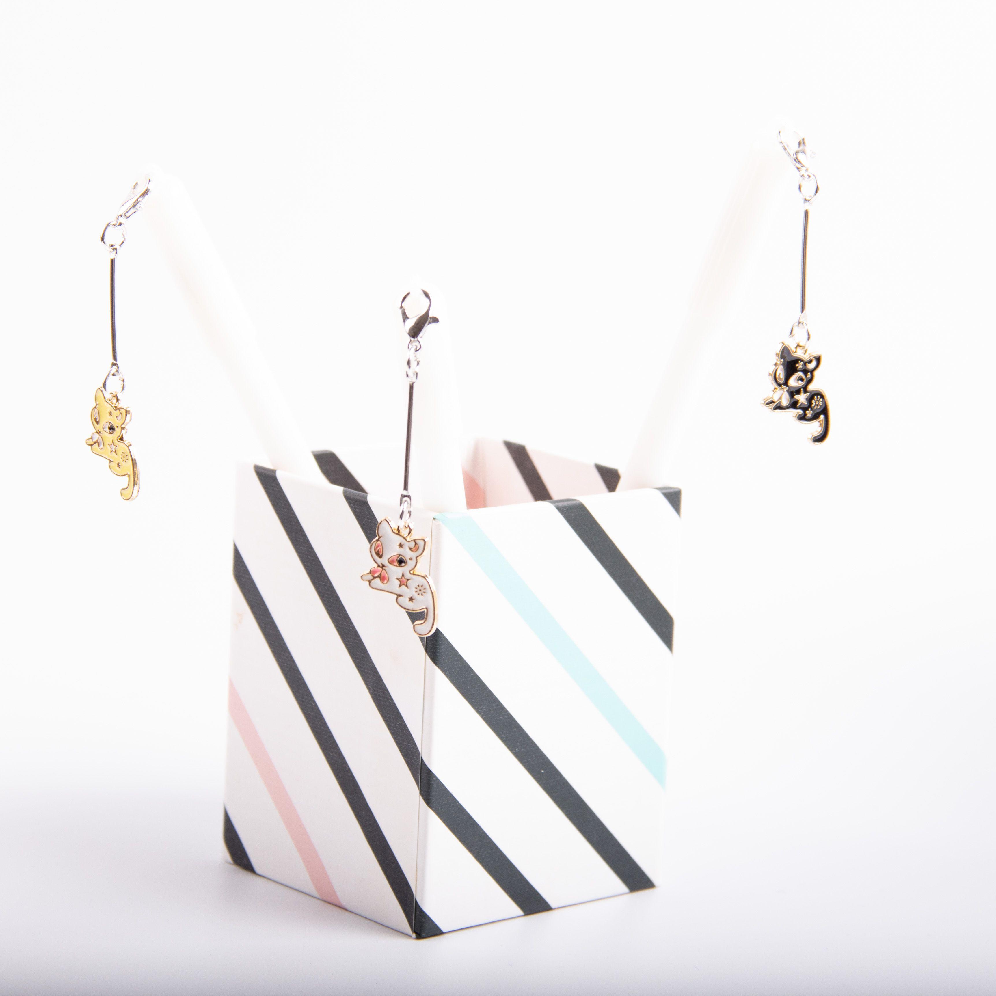 欧美创意小猫咪摩易热可擦中性笔猫咪3