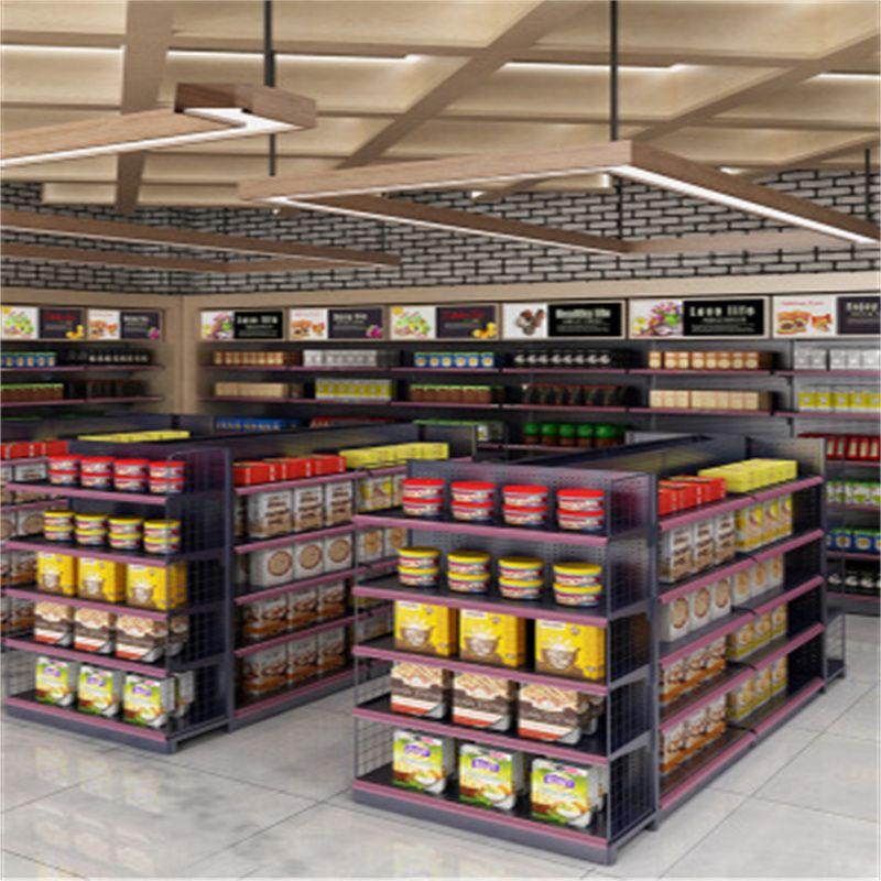 超市货架展示架商超货架店零食双面单面组合多层饮料置物架编辑