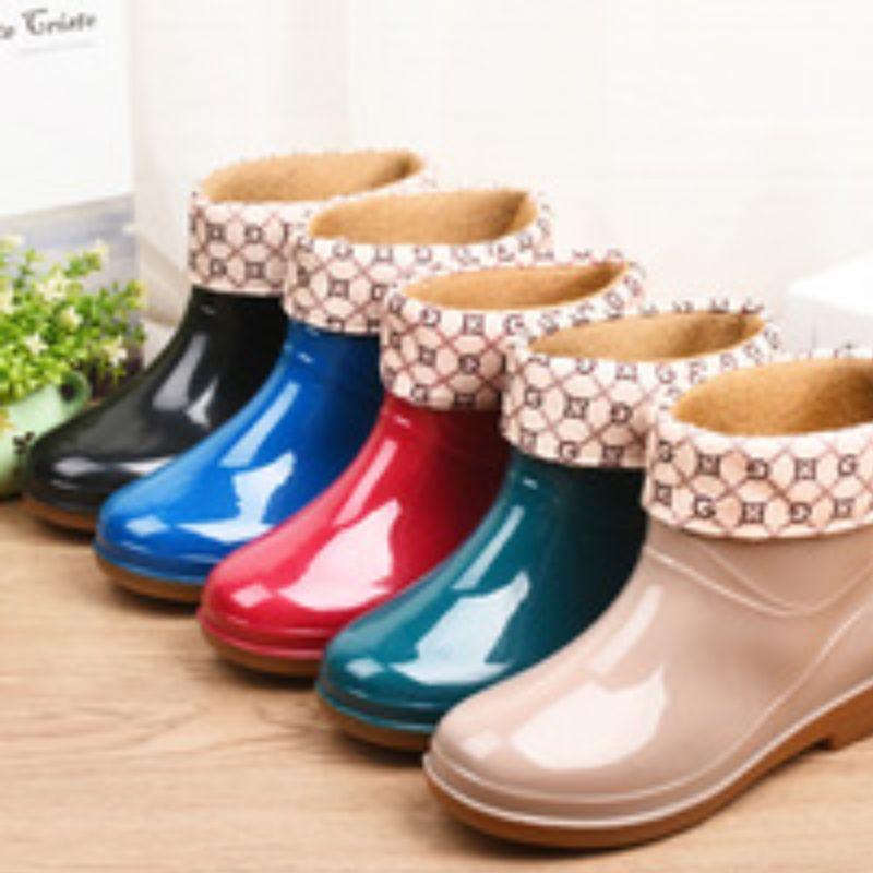 雨鞋男士女士水鞋时尚外穿夏天新款中筒胶鞋防水防滑水靴套鞋女式雨靴365