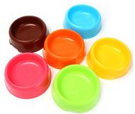 塑料宠物碗食盆狗碗糖果色圆形猫碗厂家直销