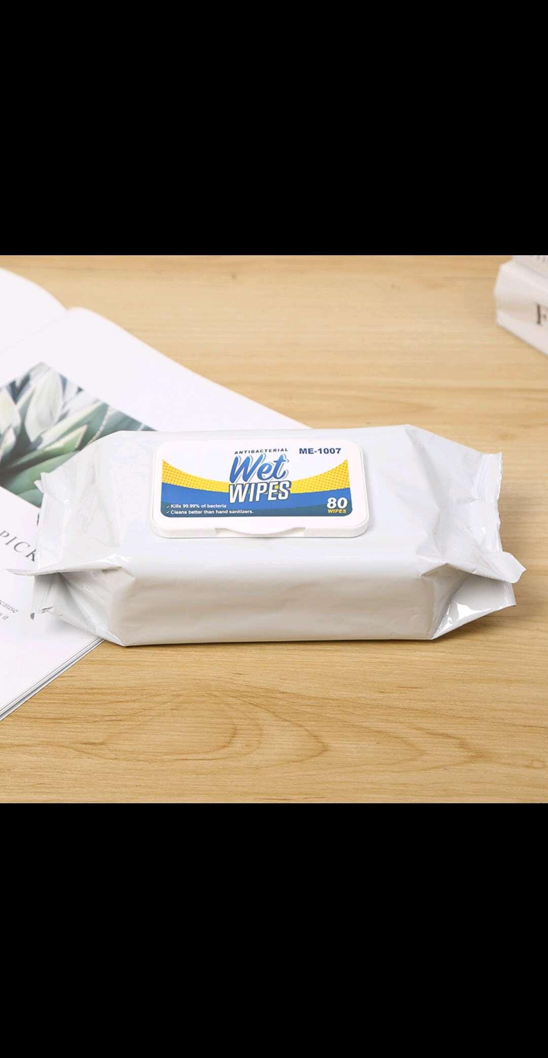 99.99%抗菌湿巾,一次性无纺布湿巾,80片带盖湿巾 湿巾,无纺布湿巾