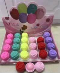 LS824 magic 玫瑰6色润唇膏