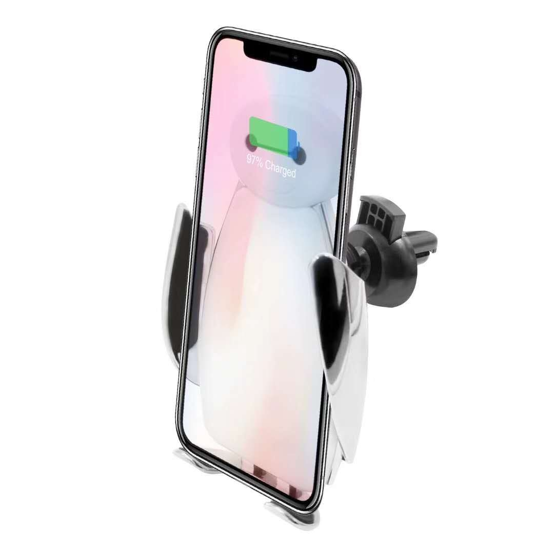 大白无线快充 车载手机支架无线充电器 红外感应车架