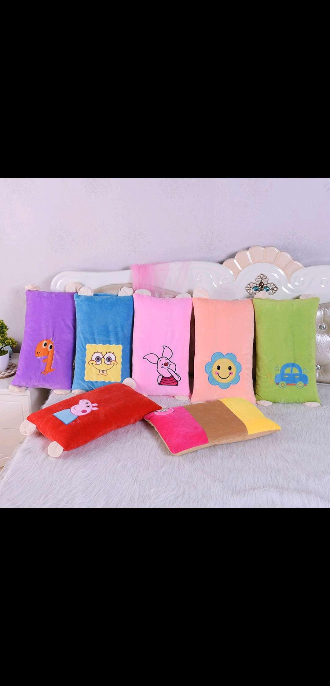 超柔绣花卡通婴幼儿幼儿园学生枕地摊货2020爆款一件代发童枕定型枕头
