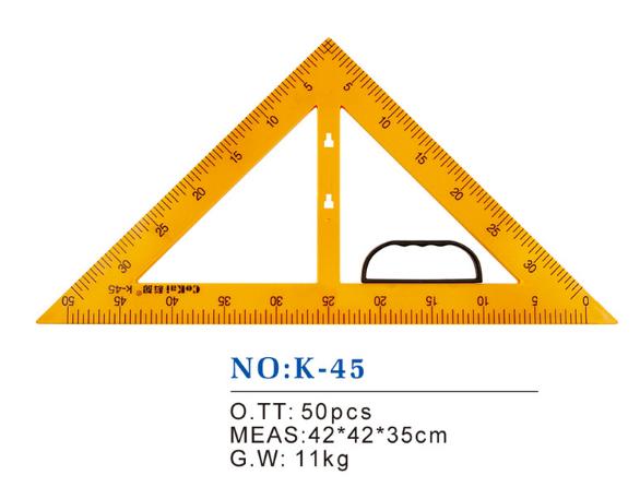 N0:K.一45教学三角板,适用于老师和学生绘图用的