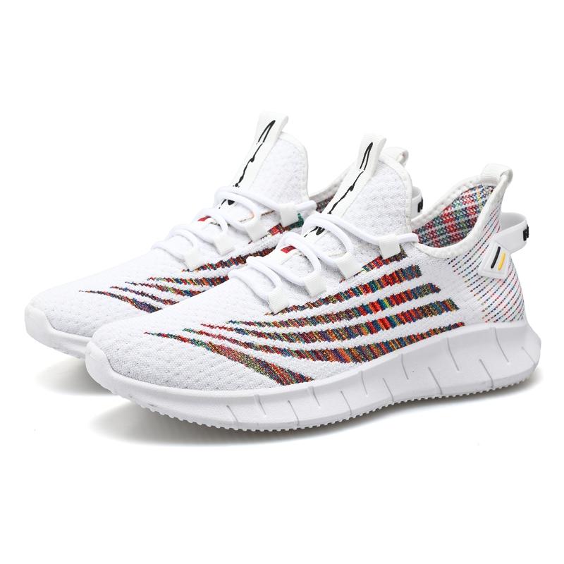 飞织网面透气男鞋运动鞋男士休闲鞋青少年跑步鞋,39--44  黑色,白色