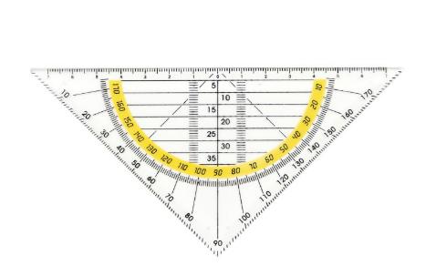4116多功能三角板,适用于老师和学生绘图用的