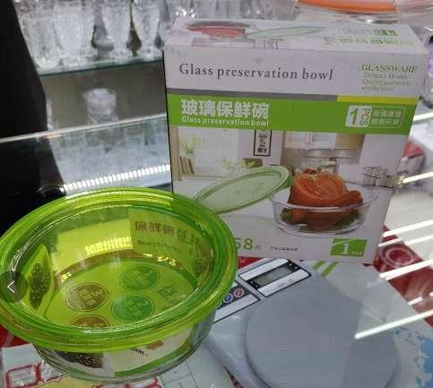 玻璃保鲜碗。