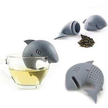 创意趣味大鲨鱼 硅胶鲨鱼泡茶器 滤茶器