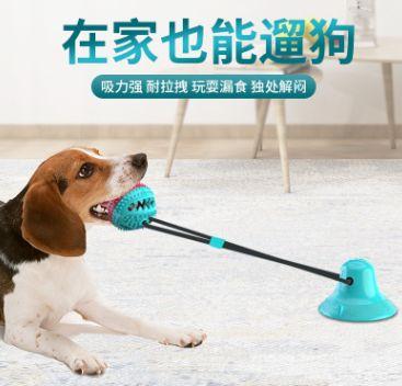 宠物用品亚马逊 吸盘狗玩具 磨牙漏食器啃咬球Pet Molar