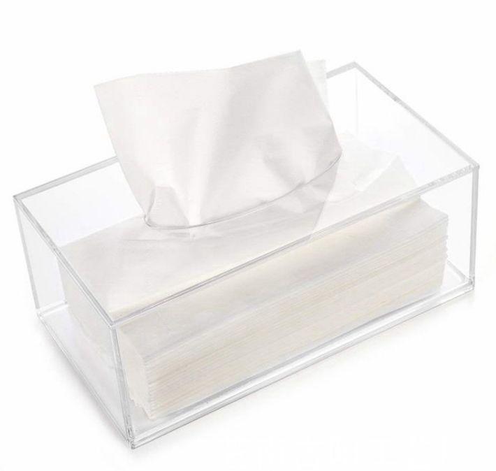 塑料透明亚克力纸巾盒 酒店客房抽拉纸巾盒