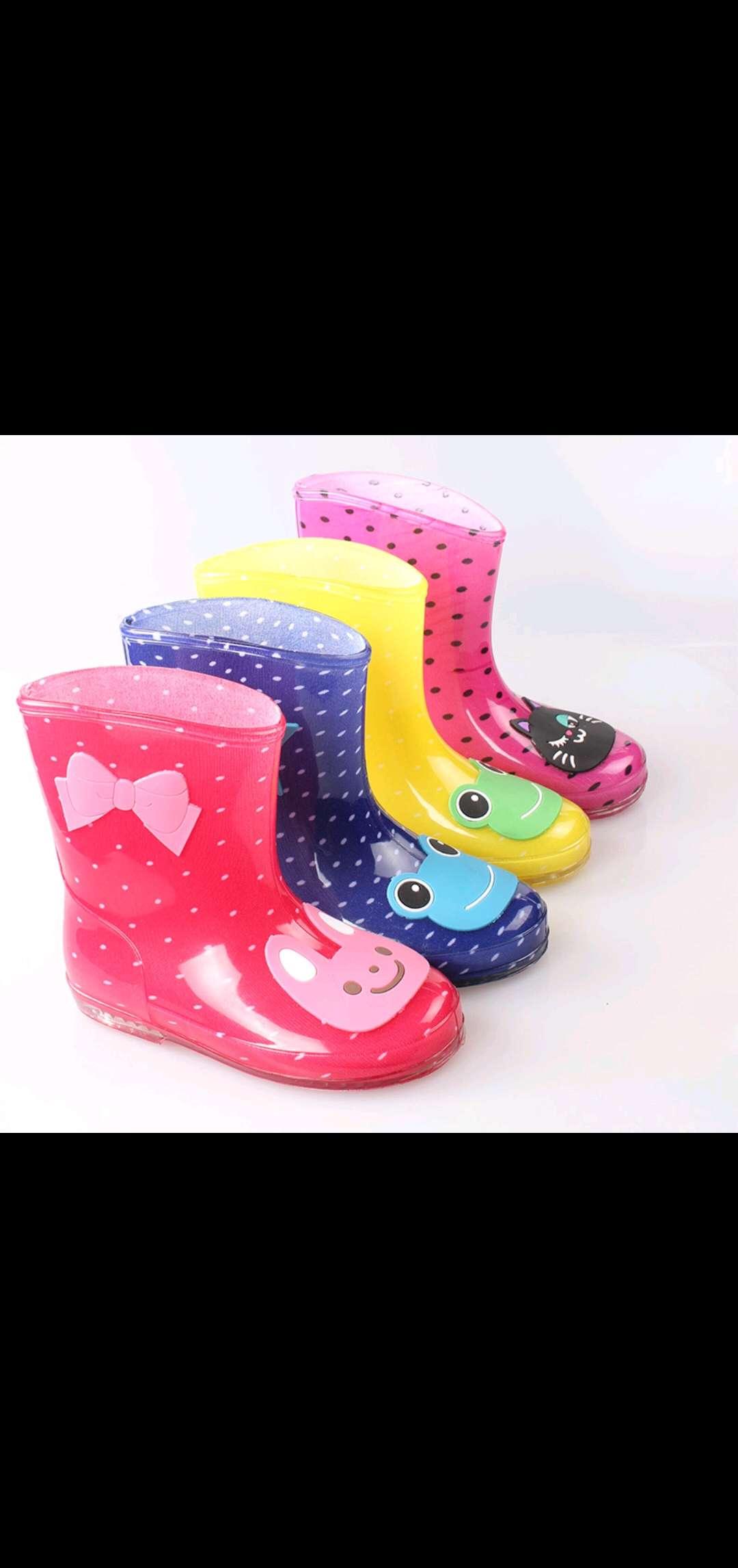 新款男女PVC儿童卡通韩版水晶防滑耐磨儿童雨鞋