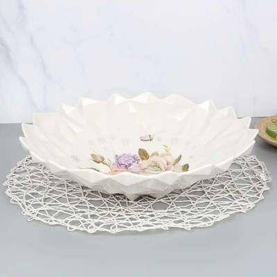 厂家创意欧式家用客厅仿瓷糖果水果干果盘办公室零食盘果盘