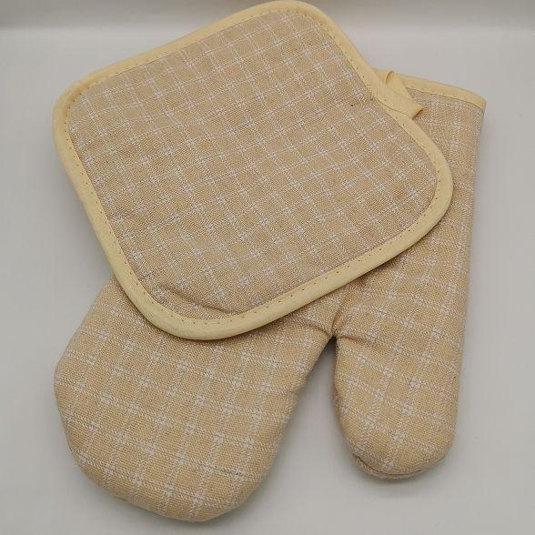 小格子全棉隔热垫隔热手套厨房烘焙微波炉烤箱耐高温防热防烫手套