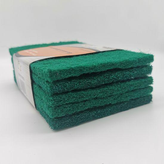绿色百洁布5片套卡洗碗刷锅洗刷水槽台面多功能厨卫清洁布百洁刷LSJ-A14厨房清洁用品