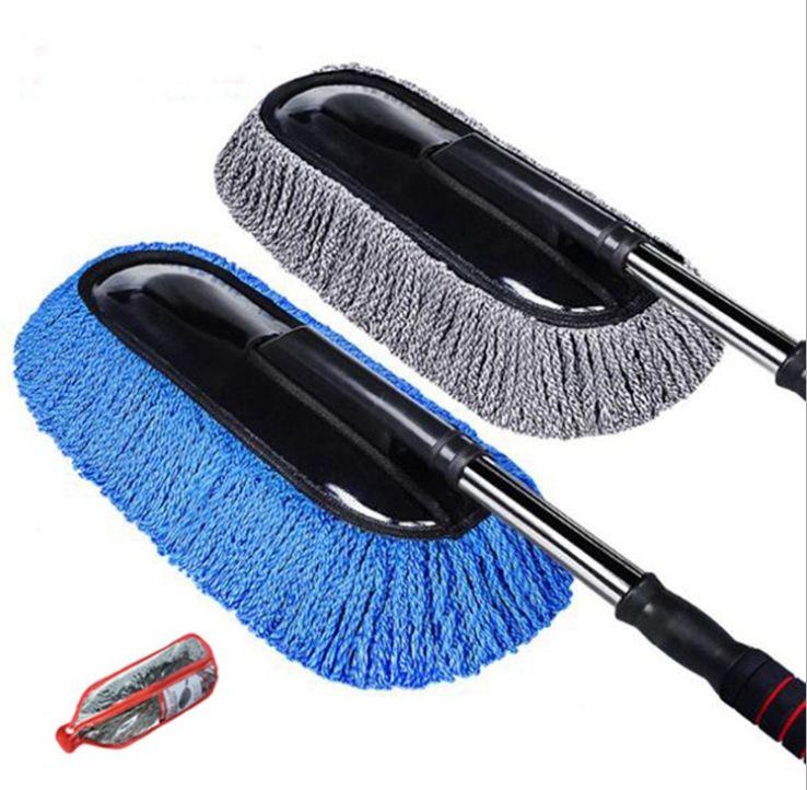 汽车用擦车拖把除尘掸子蜡拖软毛洗车刷扫车灰尘清洁工具神器