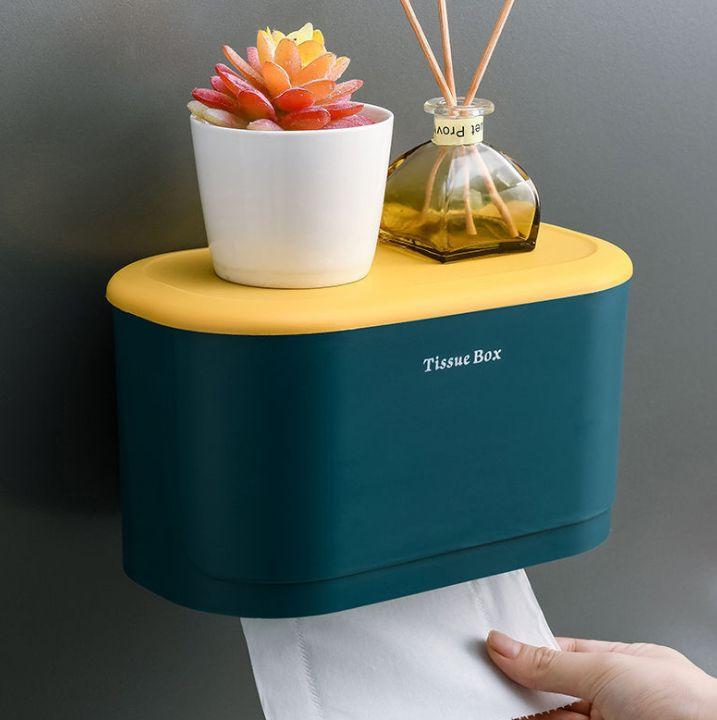 卫生间纸巾盒厕所纸巾架塑料纸巾收纳盒 免钉收纳置物架
