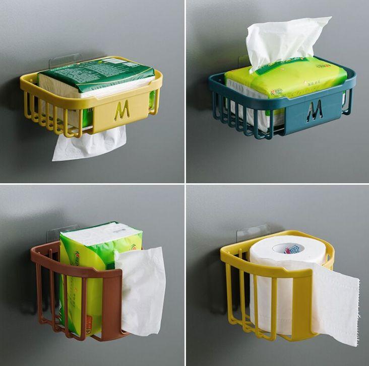 免打孔厕所纸巾盒卫生间置物架洗手间卷纸壁挂