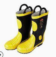 消防灭火防护靴02款消防防护靴 劳保鞋防砸防刺穿 消防安全鞋